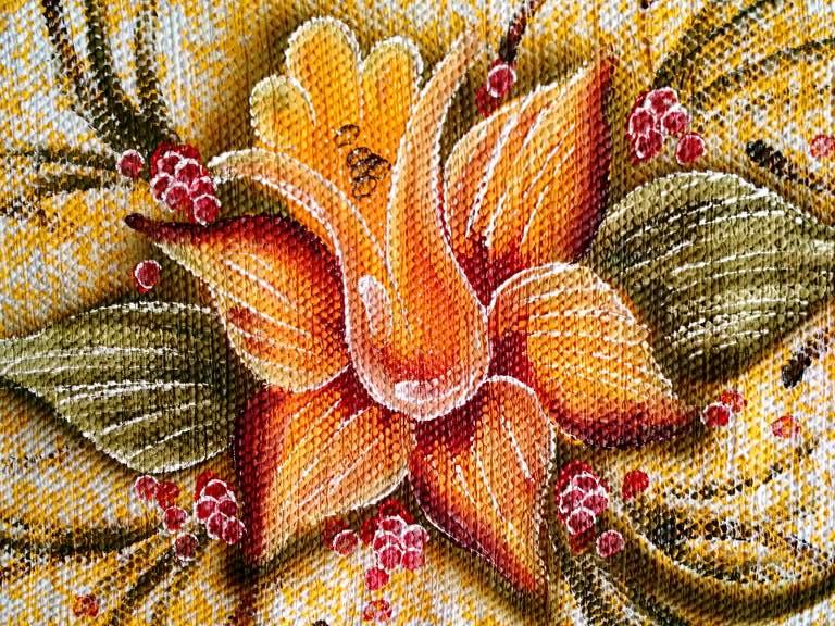 Jogo de tapete amarelo florido para cozinha 3 peças 3