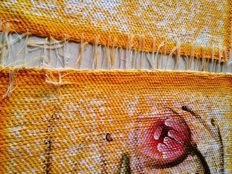 Jogo de tapete amarelo florido para cozinha 3 peças 5