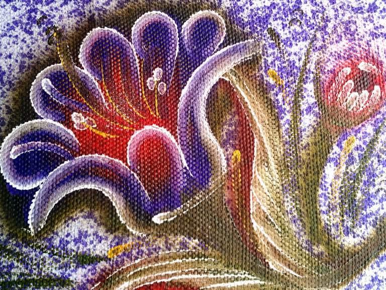 Jogo de tapete roxo florido para cozinha 3 peças 3