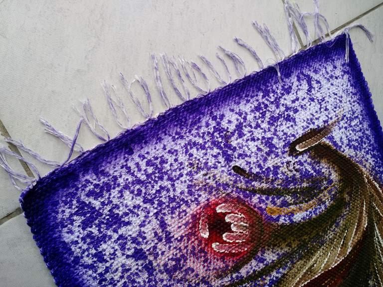 Jogo de tapete roxo florido para cozinha 3 peças 5