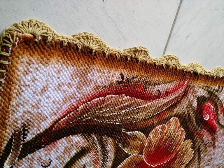 Jogo de tapete para banheiro floral colorido 3 peças 5
