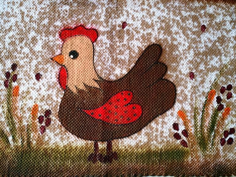 Tapete animal galinha pequena 1