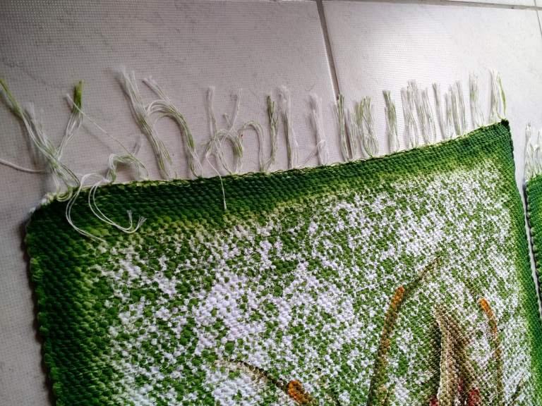 Jogo de tapete para cozinha verde floral 3 peças 3