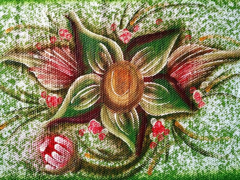 Jogo de tapete para cozinha verde floral 3 peças 5