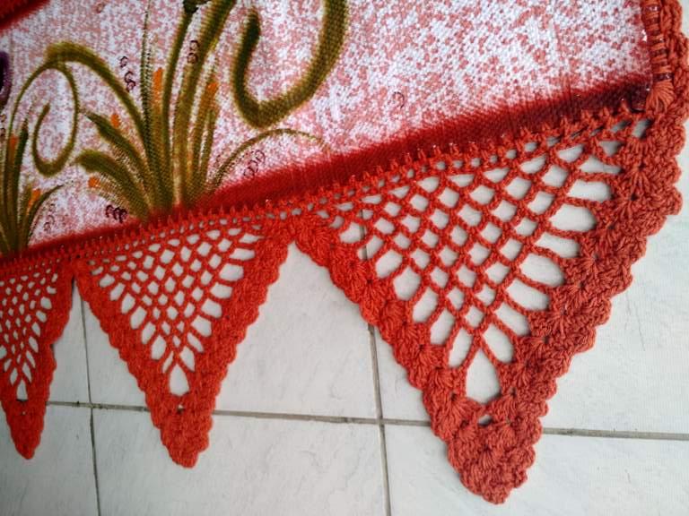 Bando de Croche para Janela Floral 3