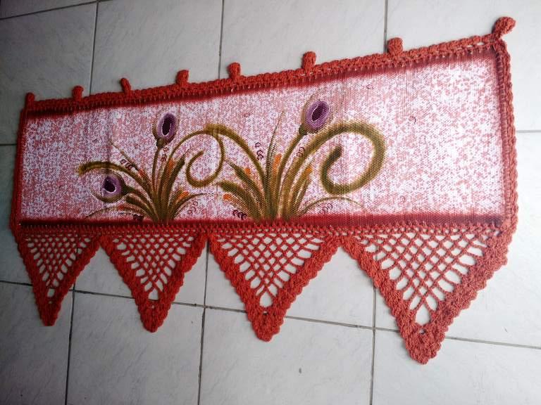 Bando de Croche para Janela Floral 5