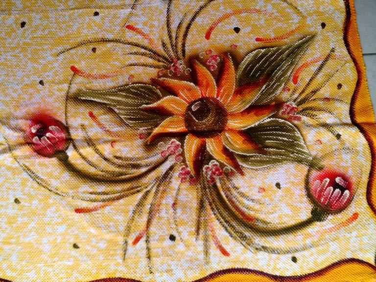 meia manta flor amarela