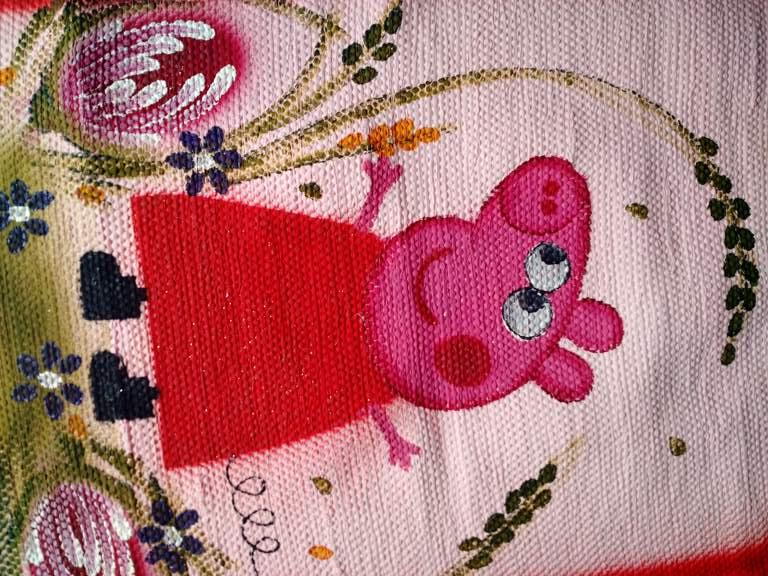 Tapete infantil rosa com peppa pig 3